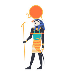 ra - god of sun creator deity or mythological vector image