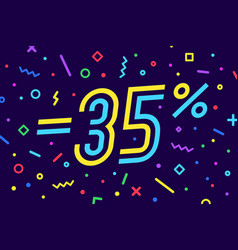 sale -35 percent banner for discount sale vector image
