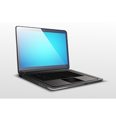 Screen a laptop with blue graphics vector image vector image