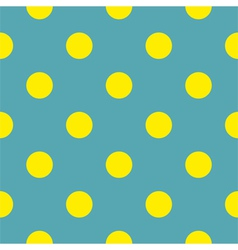 Seamless background with yellow polka dots blue vector