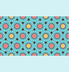 Seamless pattern in authentic arabian style color vector