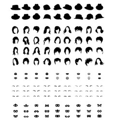 set icons for woman vector image