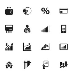 Set of 16 editable logical icons includes symbols vector