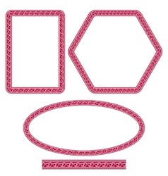 Set of ornate frames of different shapes in vector