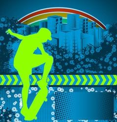 skate grunge background vector image
