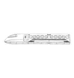 Sketch-speed train Taiwan Asia vector