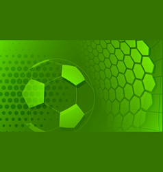 Soccer background in green colors vector