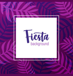 square background decorated purple frame made vector image