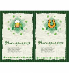 St. Patrick's Day backgrounds vector image