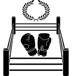 stencil boxer ring vector image