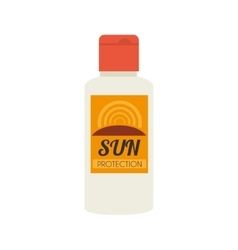 Sun block lotion bottle icon graphic vector