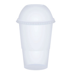 Takeaway plastic glass vector
