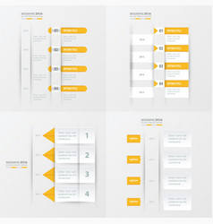 Timeline design 4 item yellow color vector