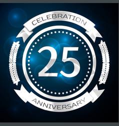 Twenty five years anniversary celebration with vector