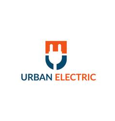U electric logo vector