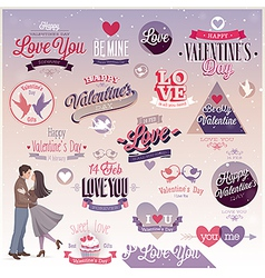 valentine emblems2 vector image