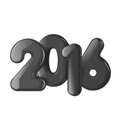 Voluminous black figures in 2016 vector image