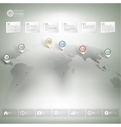 World map with pointer marks Infographic for vector image