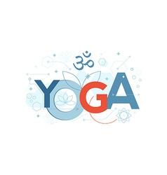 Yoga Word Typography vector image