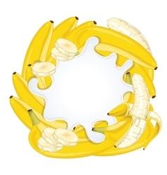 Yogurt splash isolated with banana vector