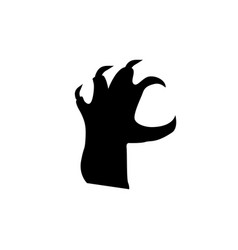black silhouette of grab reacting zombie hand vector image