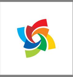 circle colorful spin logo vector image vector image