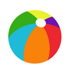 color beachball vector image