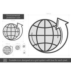 Environmental protection line icon vector