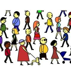 people crowd vector image vector image