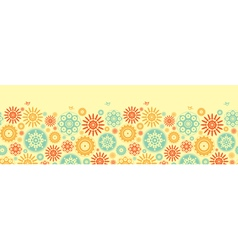 Seamless floral pattern with cartoon birds vector image vector image