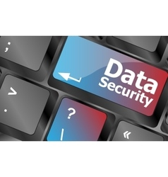 data security word with icon on keyboard button vector image vector image