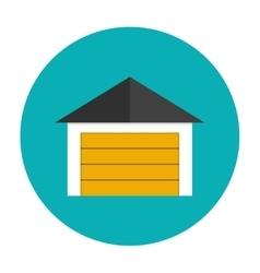 Garage icon flat vector image