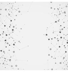 Science molecule design background vector image