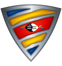 steel shield swaziland vector image
