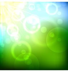 Summer bokeh background vector image vector image