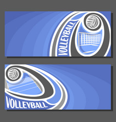 banners for volleyball vector image vector image