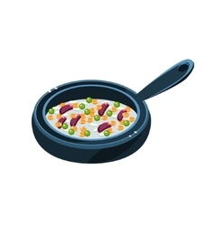 Chili Con Carne In Pan vector image