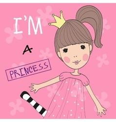 Cute Princess vector image vector image