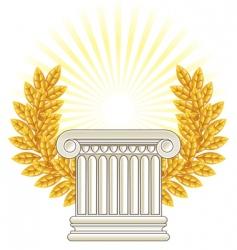 Greek column vector image vector image