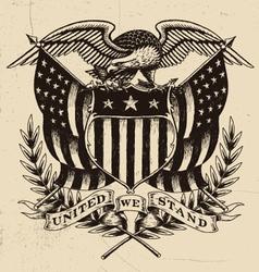 Hand Drawn American Eagle Linework vector image vector image