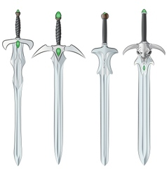 set of swords vector image vector image