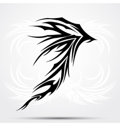 Black celtic tattoo tribal for tattoo saloons vector