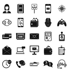 General information icons set simple style vector