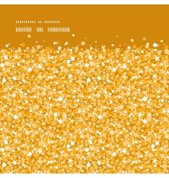 golden shiny glitter texture horizontal frame vector image