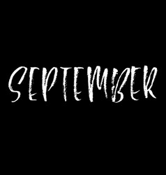 hand drawn typography lettering september month vector image vector image