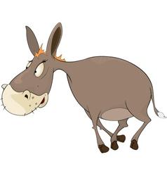 The little burro cartoon vector