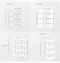 timeline design 4 item white color vector image vector image
