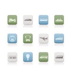 travel and transportation of people icons vector image vector image