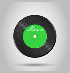 Vinyl disk music disk sound record business vector