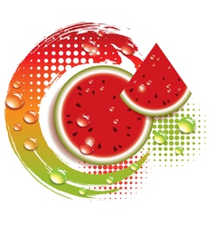 Abstract background with fresh watermelon vector